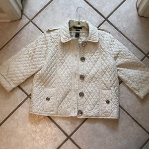 Mel and Lisa quilted Ivory coat